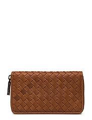 Andrea woven wallet - COGNAC