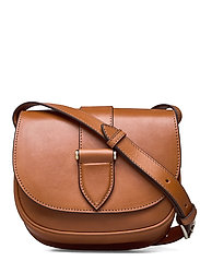 Trisha satchel bag - VEGETAL COGNAC