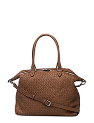 Woven small hold all - COGNAC