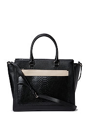 Working bag with clutch and strap - BLACK