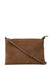 Jayla small flat cross body - SUEDE LATTE