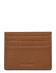 Two side card holder - COGNAC