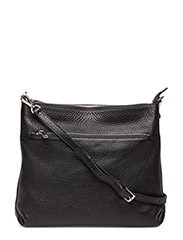 Cross over hold all with zipper pocket - BLACK