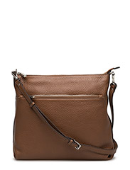 Cross over hold all with zipper pocket - COGNAC