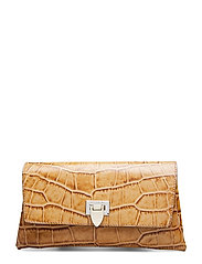 Nora small clutch w/buckle - CROCO COGNAC