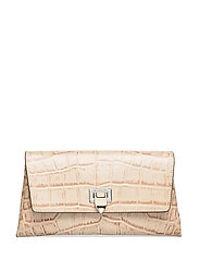 Nora small clutch w/buckle - CROCO OAT