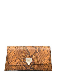 Nora small clutch w/buckle - SNAKE GOLDEN YELLOW