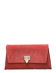 Nora small clutch w/buckle - SUEDE BLOSSOM