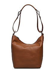 Small shoulder bag with two way strap - COGNAC