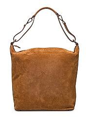 Nova big shoulder bag - SUEDE COGNAC