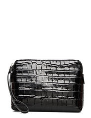 Hannah makeup purse - CROCO BLACK