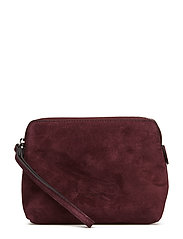Hannah makeup purse - SUEDE OXBLOOD