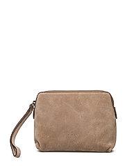 Hannah makeup purse - SUEDE SAND