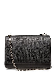 Small clutch with double chain - BLACK