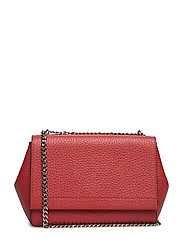 Small clutch with double chain - SCARLET RED
