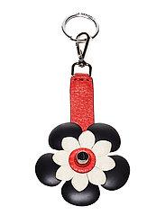 Flower key-ring - RED