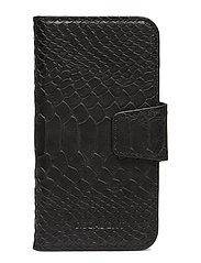 Lea iPhone X/Xs flip cover - ANACONDA BLACK