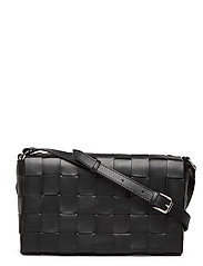 Sylvia woven cross-body - BLACK