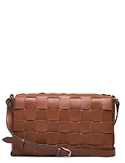 Sylvia woven cross-body - COGNAC