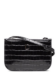 Marcia small double bag - CROCO BLACK