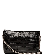 Anna small shoulder bag - CROCO BLACK