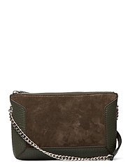 Anna small shoulder bag - SUEDE ARMY