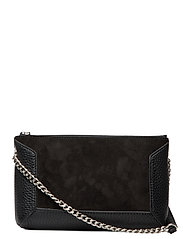 Anna small shoulder bag - SUEDE BLACK