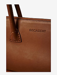 Decadent - Working Bag One Pocket - fashion shoppers - cognac - 4
