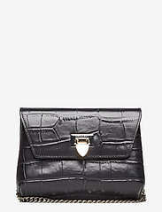 Decadent - Cleva small pouch - shoulder bags - croco black - 0