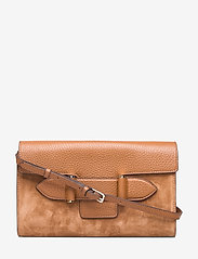 Decadent - Janice clutch with strap - olkalaukut - suede cognac - 0
