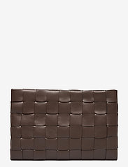 Decadent - Dolores woven clutch - clutches - mocha - 0