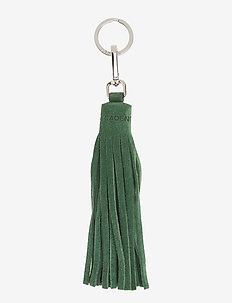 Tassel with key-ring - sleutelringen - suede green