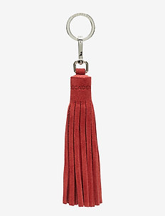 Tassel with key-ring - SUEDE SCARLET RED