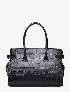 Small shopper - handväskor - croco black