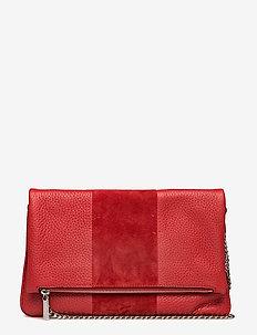 Piper clutch - skuldertasker - scarlet red