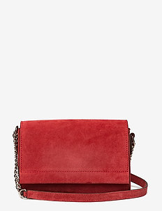 Evelyn cross-body - SUEDE SCARLET RED