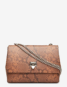 Eira medium bag - SNAKE COGNAC