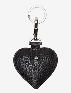 Heart keyring - key rings - black