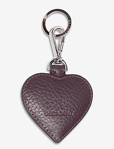 Heart keyring - key rings - plum