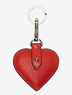 Heart keyring - RED