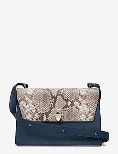 Charlotte shoulder bag - skuldertasker - denim/snake