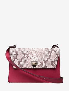 Charlotte shoulder bag - skuldertasker - scarlet red/snake