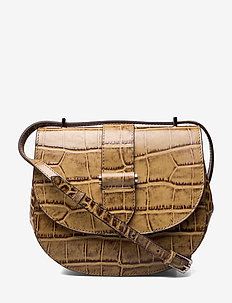 Kim satchel bag - CROCO NOUGAT