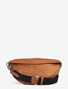 Trina small bum bag - SUEDE COGNAC