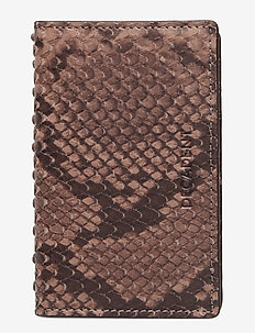 Kelly card holder - SNAKE NOUGAT