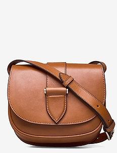 Trisha satchel bag - skuldervesker - vegetal cognac