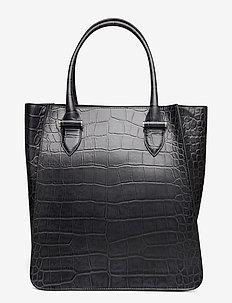 Phoebe big tote - shoppere - croco black
