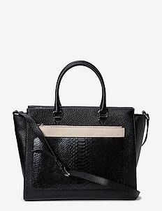 Working bag with clutch and strap - handtassen - black