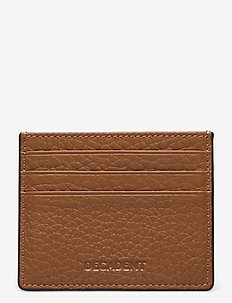 Two side card holder - card holders - cognac