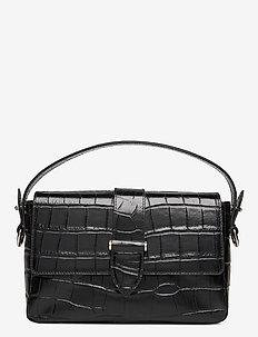 Haley handbag - schoudertassen - croco black